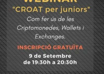 """Webinar """"CROAT per Juniors"""" – Dijous 09 de setembre a les 19:30"""